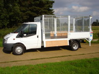 460 Transit with caged tipper
