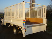 Caged Transit tipper